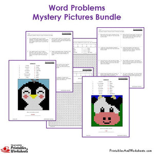 Grade 3 Math Word Problems Coloring Worksheets - Sample 2