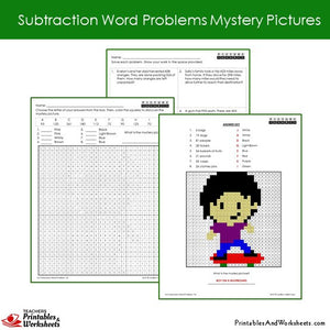 Grade 2 Subtraction Word Problems Coloring Worksheets Sample 2