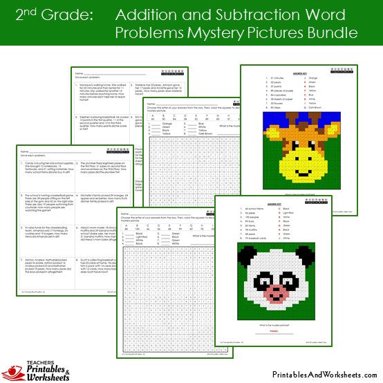 Additionsubtraction Mystery Picture Worksheets - mystery addition ...
