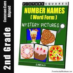 2nd Grade Number Names Mystery Pictures Coloring Worksheets