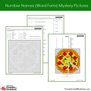 Grade 2 Number Names Coloring Worksheets - Sample 2