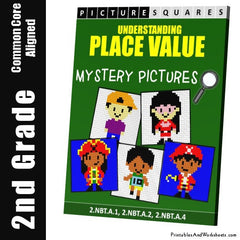 2nd Grade Place Value Fundamentals Mystery Pictures Coloring Worksheets