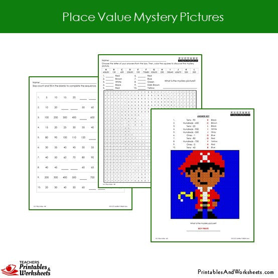 Grade 2 Place Value Coloring Worksheets Sample 1