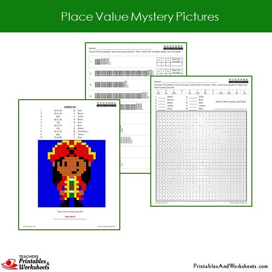 2nd grade place value fundamentals mystery picture coloring worksheets printables worksheets. Black Bedroom Furniture Sets. Home Design Ideas