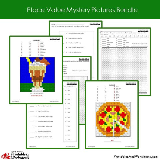 Grade 2 Place Value Coloring Worksheets Sample 3