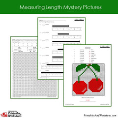 2nd Grade Measuring Length Mystery Pictures Coloring Worksheets