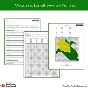 Grade 2 Measuring Length Mystery Pictures - Sample 2