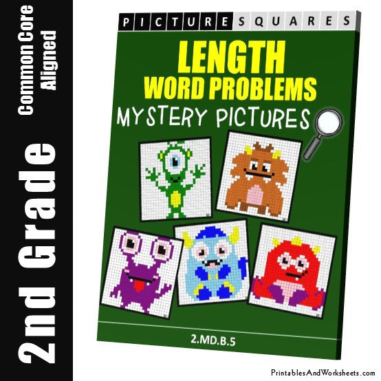 2nd grade length word problems mystery pictures coloring. Black Bedroom Furniture Sets. Home Design Ideas