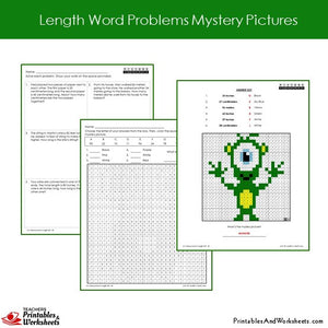Grade 2 Length Word Problems Coloring Worksheets Sample 2