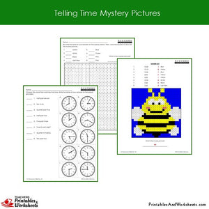 Grade 2 Telling Time Coloring Worksheets Sample 1