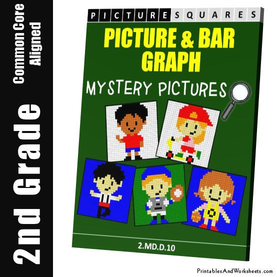 Grade 2 Picture/Bar Graph Mystery Pictures Coloring Worksheets