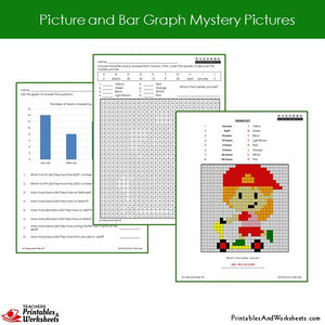 Grade 2 Picture/Bar Graph Coloring Worksheets - Sample 2