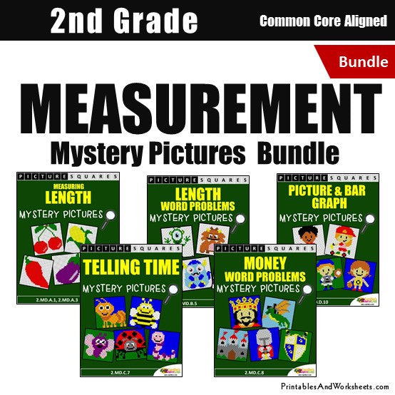 2nd grade measurement mystery pictures coloring worksheets bundle printables worksheets. Black Bedroom Furniture Sets. Home Design Ideas