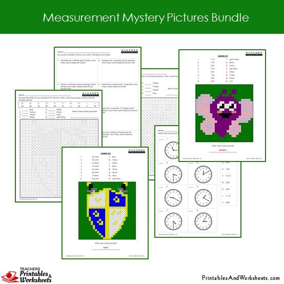 Grade 2 Measurement Coloring Worksheets Sample 2