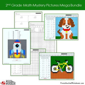 Grade 2 Math Coloring Worksheets - Sample 1