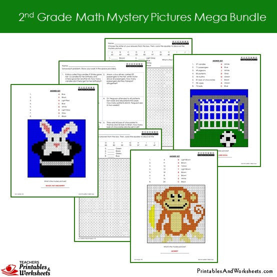Grade 2 Math Coloring Worksheets - Sample 3