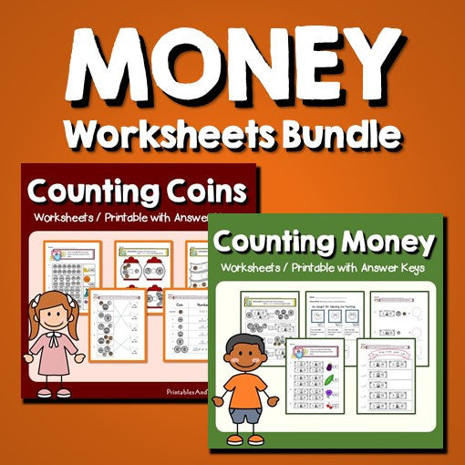 Money Worksheets and Printables Bundle with Answer Keys Cover