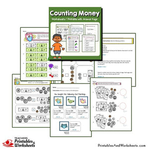 Money Worksheets and Printables Bundle with Answer Keys Sample 2