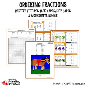 Ordering Fractions Bundle - Task Cards