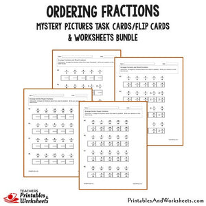 Ordering Fractions Bundle - Worksheets