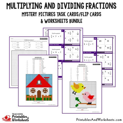 Multiplying And Dividing Fractions Task Cards And