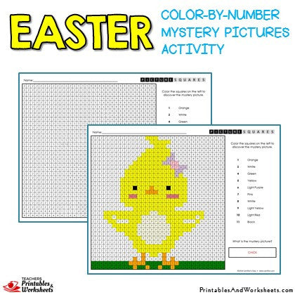 image relating to Easter Color by Number Printable referred to as Easter Colour-By means of-Quantity Solution Photos Pursuits