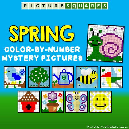Spring Coloring Activity Color by Number Mystery Pictures Cover