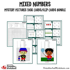 Mixed Numbers Task Cards Bundle