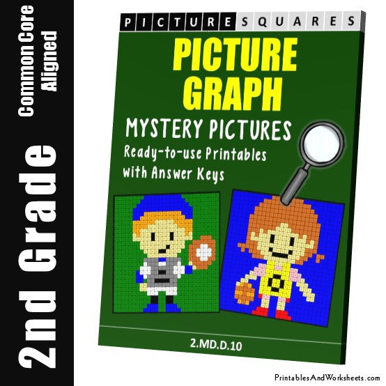 Grade 2 Picture Graph Coloring Worksheets