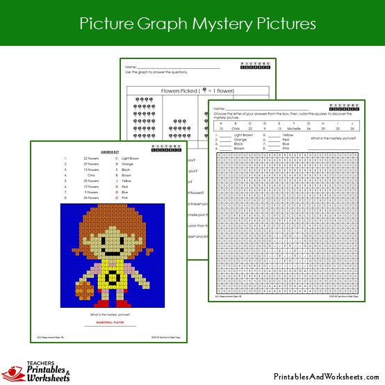 Grade 2 Picture Graph Coloring Worksheets Sample