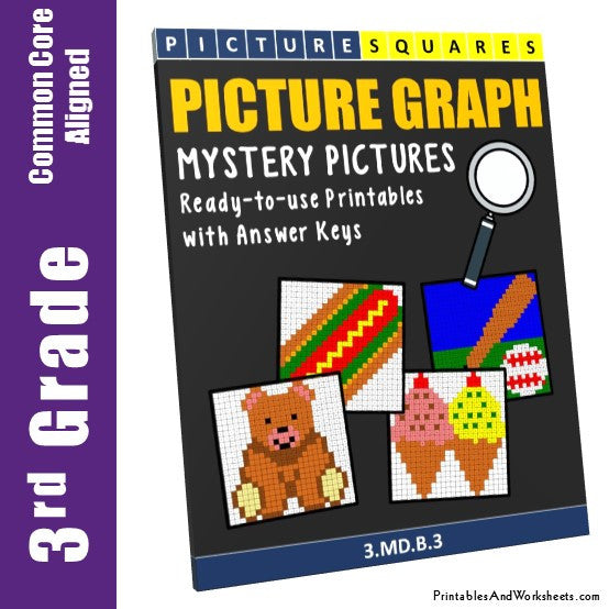 Grade 3 Picture Graphs Mystery Pictures Coloring Worksheets