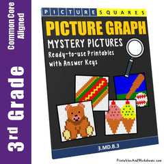 3rd Grade Picture Graph Mystery Pictures Coloring Worksheets