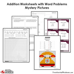 4th grade addition coloring worksheets