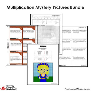 Grade 4 Multiplication Mystery Pictures - Queen