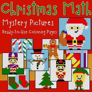 Christmas Math Coloring Worksheets