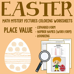 Easter Place Value Coloring Worksheets