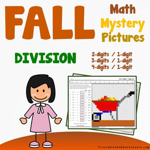 Fall/Autumn Division Coloring Worksheets