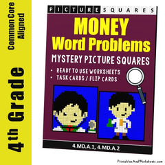 4th Grade Money Word Problems Cover