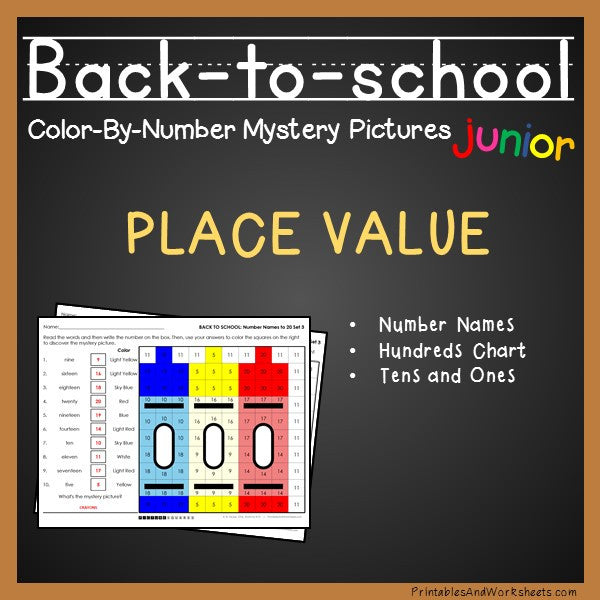 Back To School Color-By-Number - Place Value