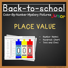Back to School Place Value Color-By-Number