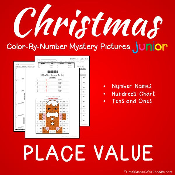 Christmas Color-By-Number: Place Value