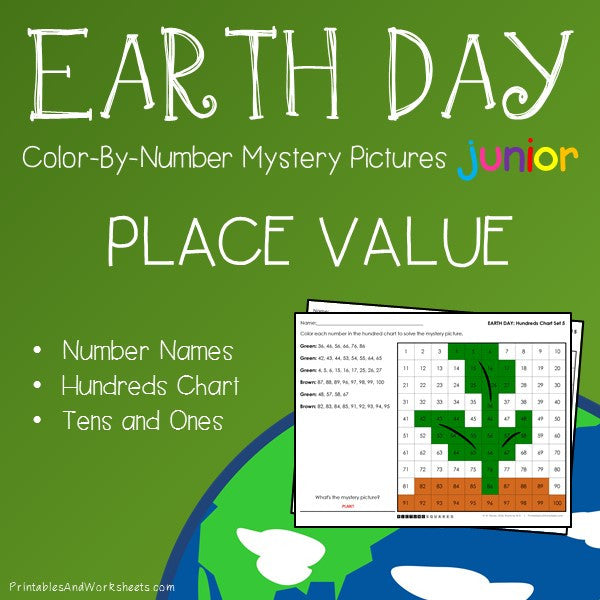 Earth Day Color-By-Number: Place Value