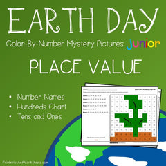 Earth Day Place Value Color-By-Number