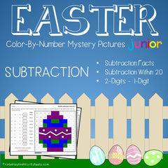 Easter Subtraction Facts Color-By-Number