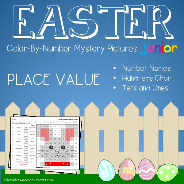 Easter Color-By-Number: Place Value