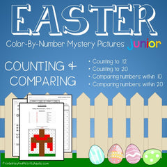 Easter Color-By-Number - Counting, Greater Than Less Than