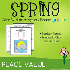 Spring Place Value Color-By-Number