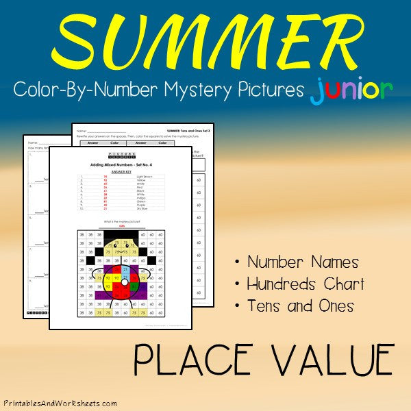 Summer Color-By-Number: Place Value