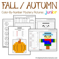 Fall / Autumn Math Color-By-Number