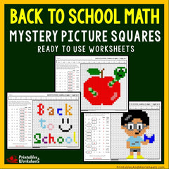 Back To School - Math Coloring Worksheets Bundle